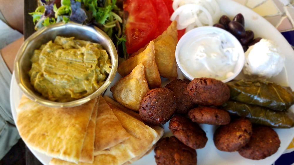 Food from Habibi's Gyros and Kabob House
