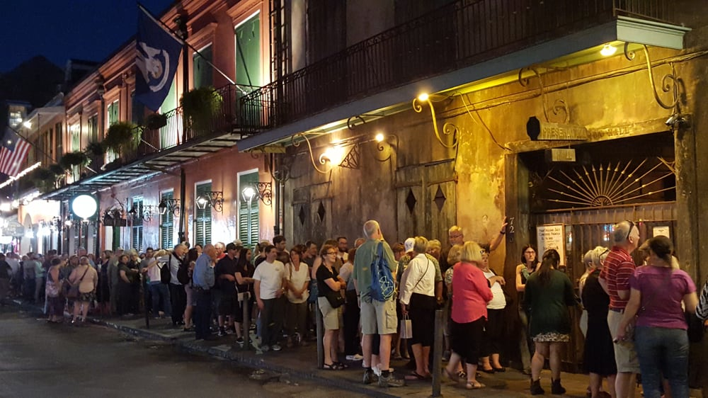 Preservation Hall had a line of 100+ people for each of