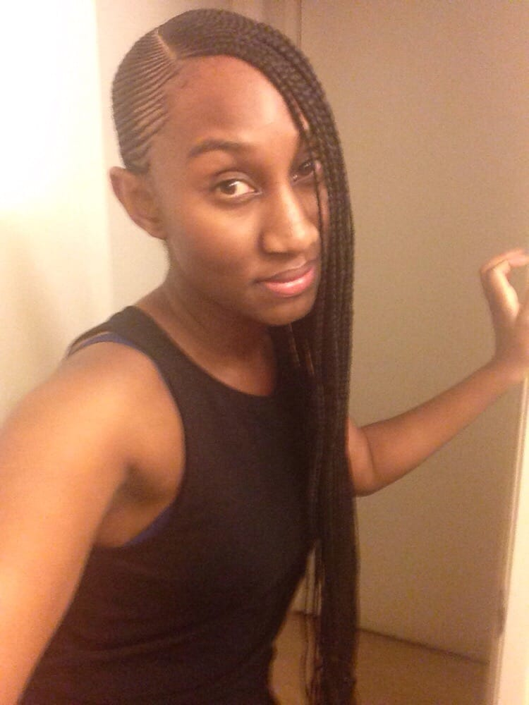 Small Long Cornrows Braided To The Side Yelp