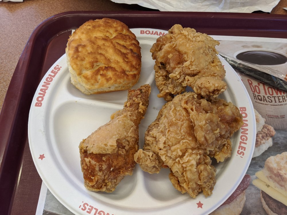 Bojangle's Famous Chicken and Biscuits: 317 S Center St, Hildebran, NC