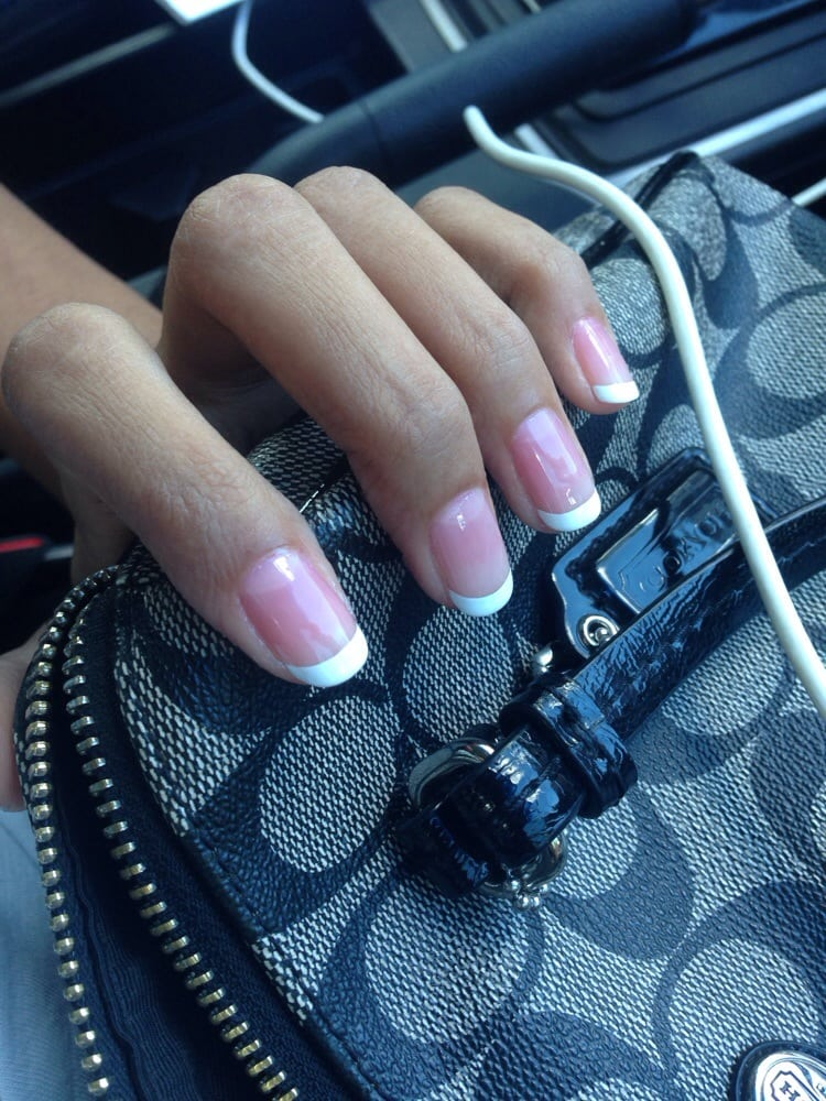 French tips. I didn\'t like the pink clear coat they put on half my ...