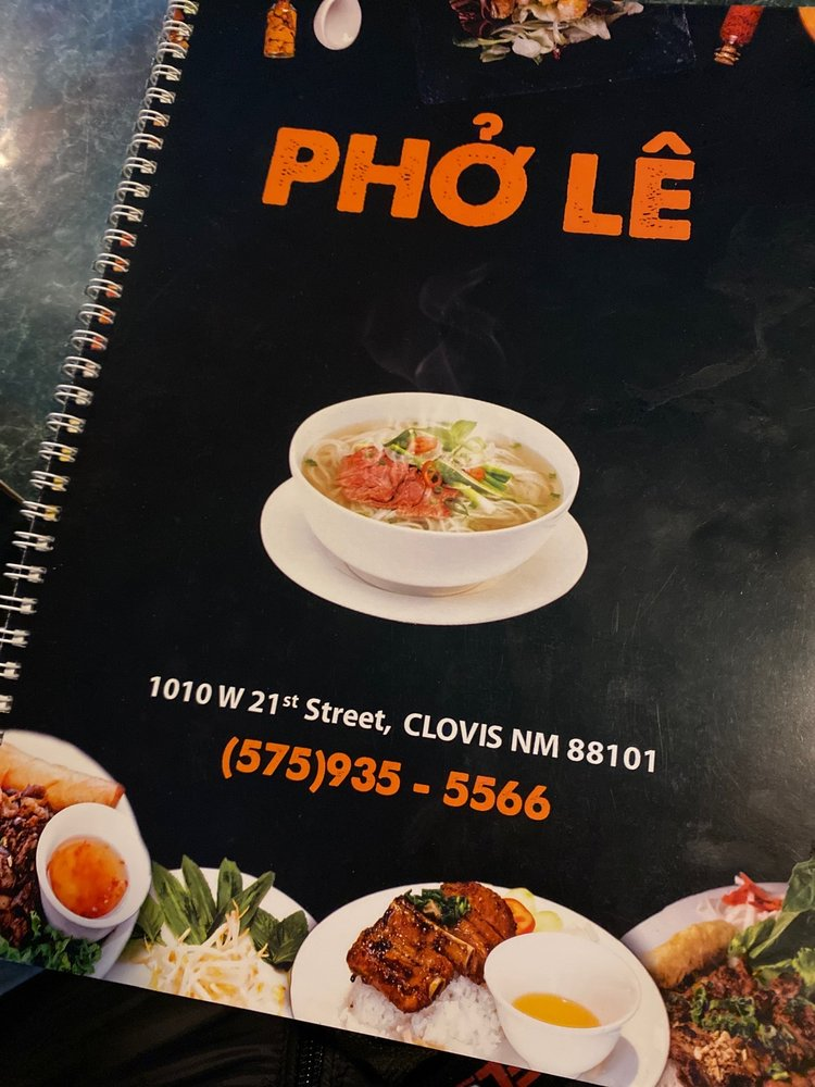 Food from Pho Le