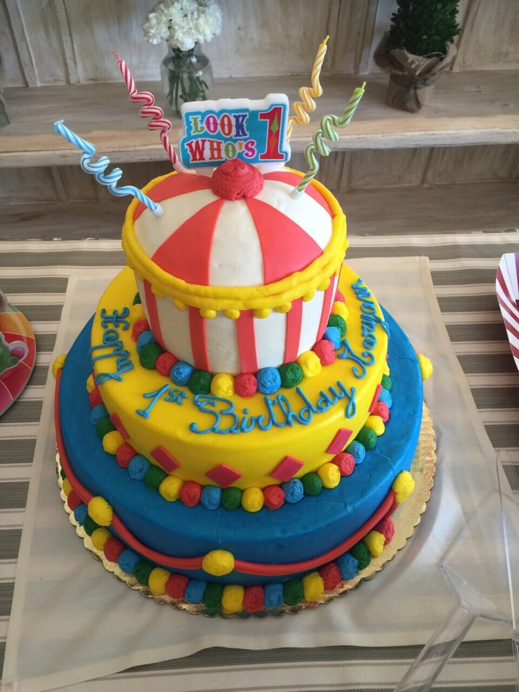 Carnival Themed Birthday Cake Yelp