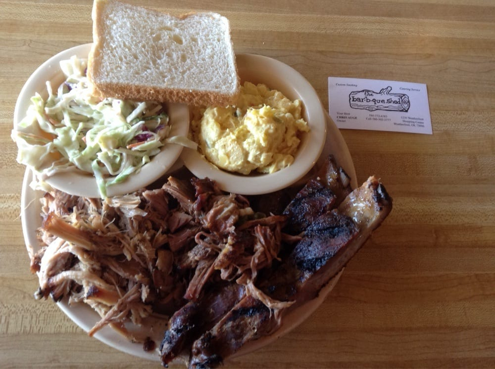 Food from Bar-B-Que Shed