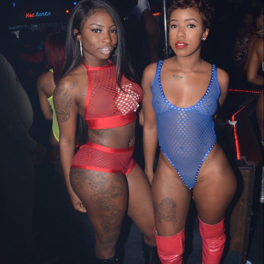 Atlanta blue club flame strip