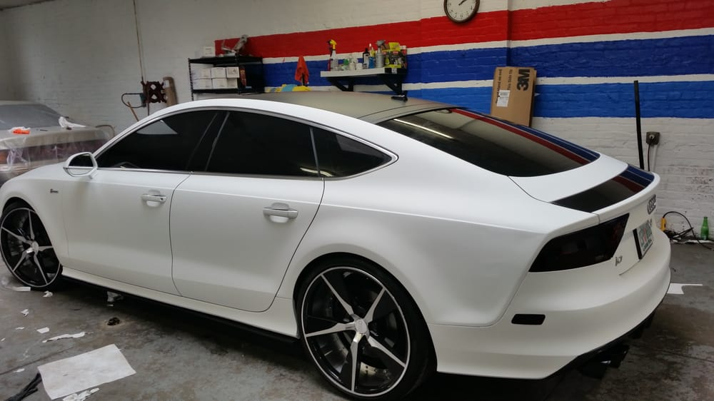 We Wrap This Car In 3m White Matte Amp The Roof In 3m Black