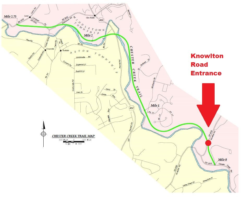 Map of rail trail from Chester Creek Trail website - Yelp Florida Rails To Trails Map on