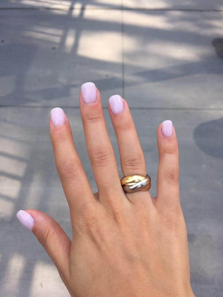 Powder dip manicure #14 done by Annie. Amazing job, clean salon ...