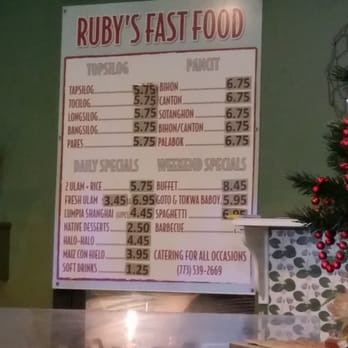 Ruby S Fast Food Chicago Il