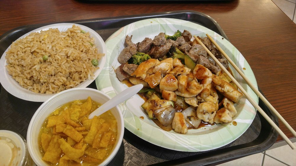 hibachi chicken and steak with fried rice yelp