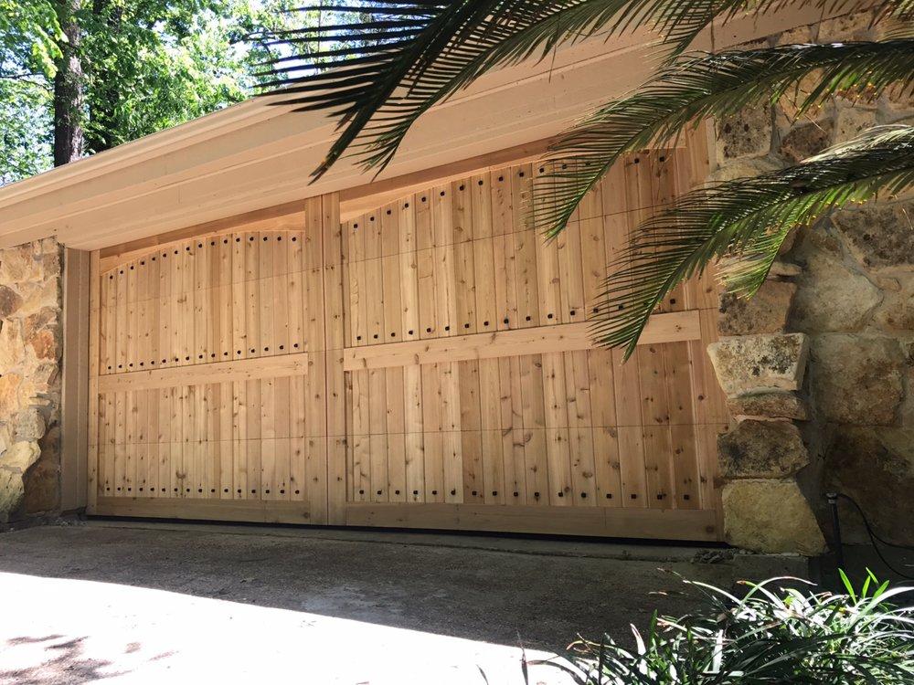 Custom wood overlay garage door yelp for Garage door wood overlay