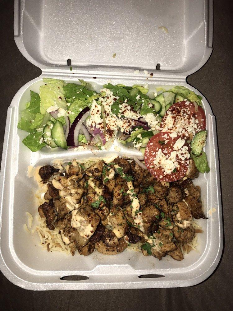 Food from Yanni's Greek Grill