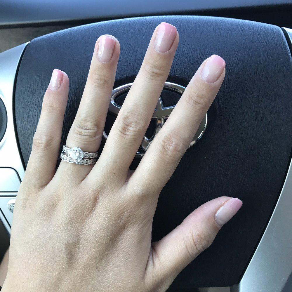 New ombré nails style. My pink ombre manicure after 1 week. Still ...