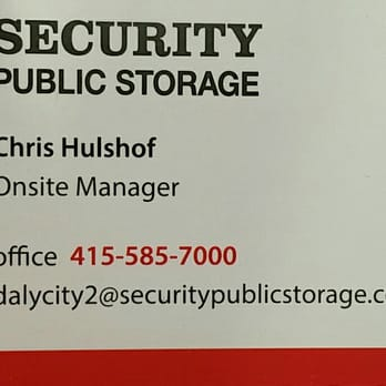 Photo Of Security Public Storage   Daly City, CA, United States. The Man