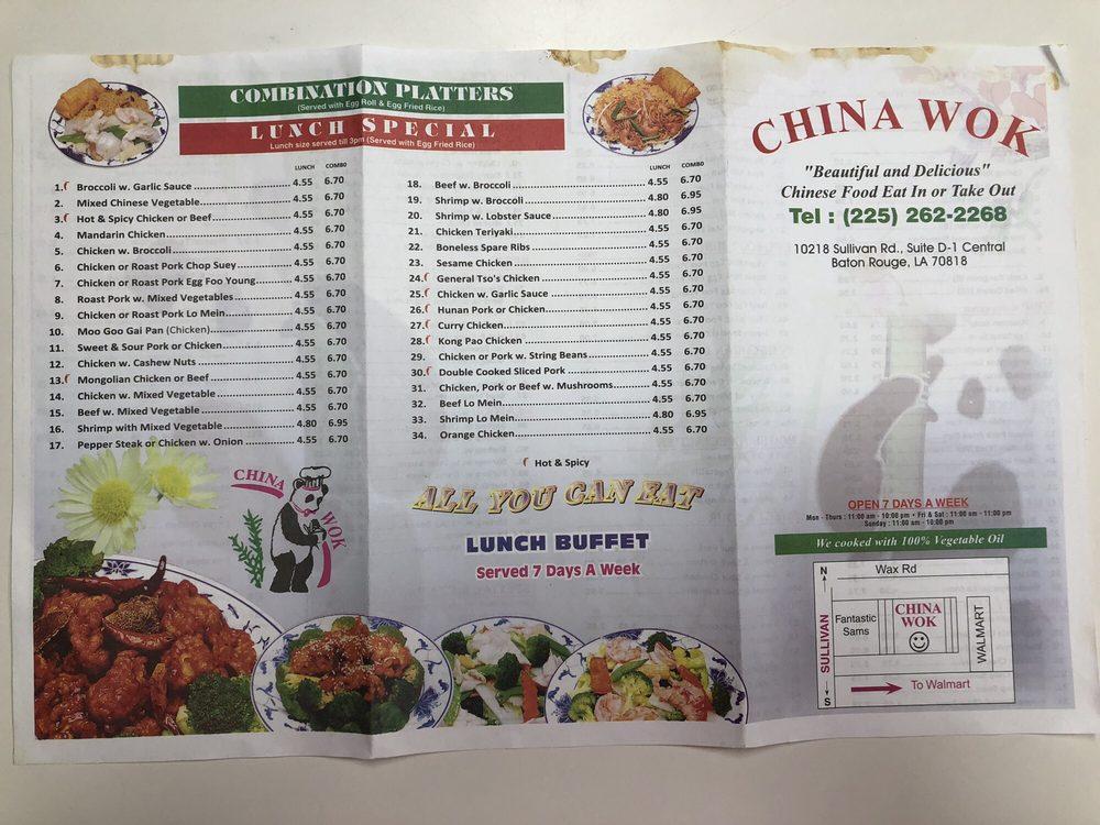 China Wok: 10218 Sullivan Rd, Baton Rouge, LA
