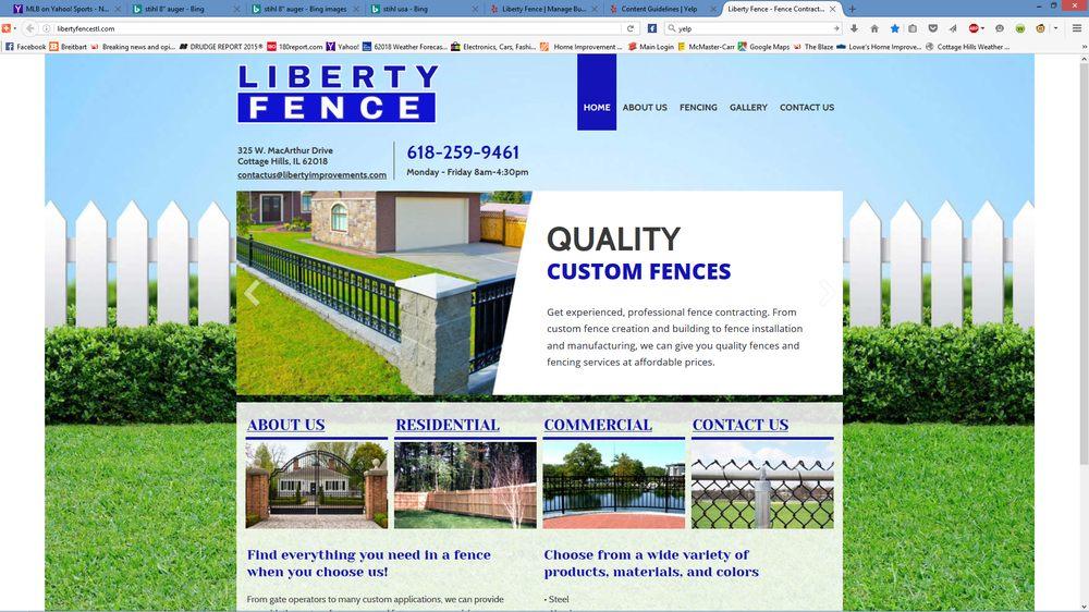Liberty Fence: 325 W Macarthur Dr, Cottage Hills, IL
