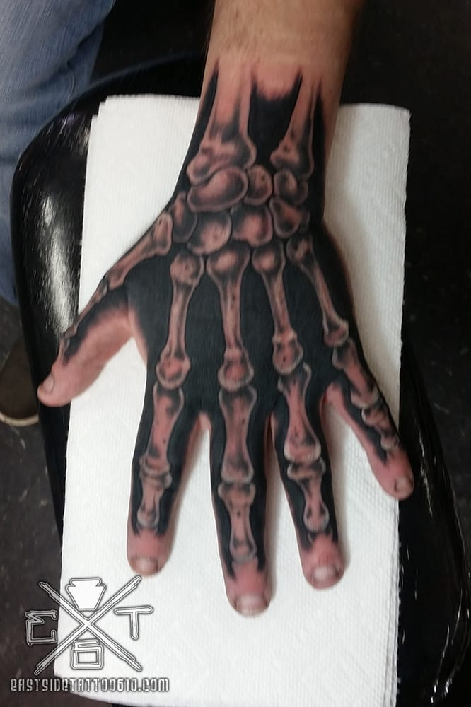 skeleton hand tattoo yelp