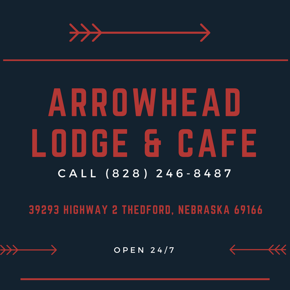 Arrowhead Lodge & Cafe: 39293 Highway 2, Thedford, NE