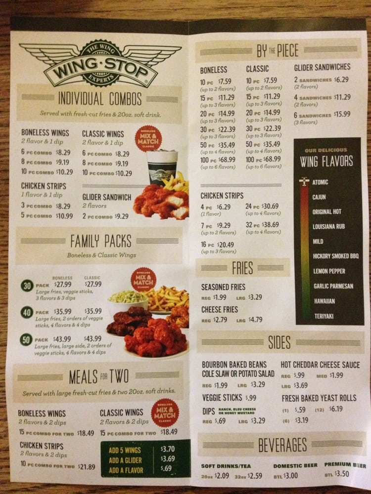 photograph about Wingstop Printable Menu named Wingstop cafe - Sleeping bag with pillow