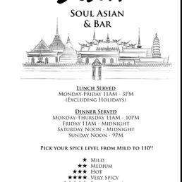 Photos for 110°Degrees Siam Soul Asian & Bar | Menu - Yelp