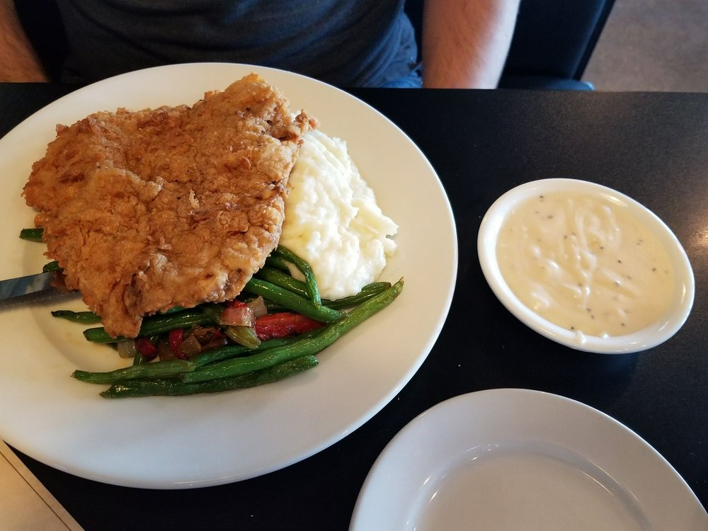 chicken fried steak those green beans are the best yelp