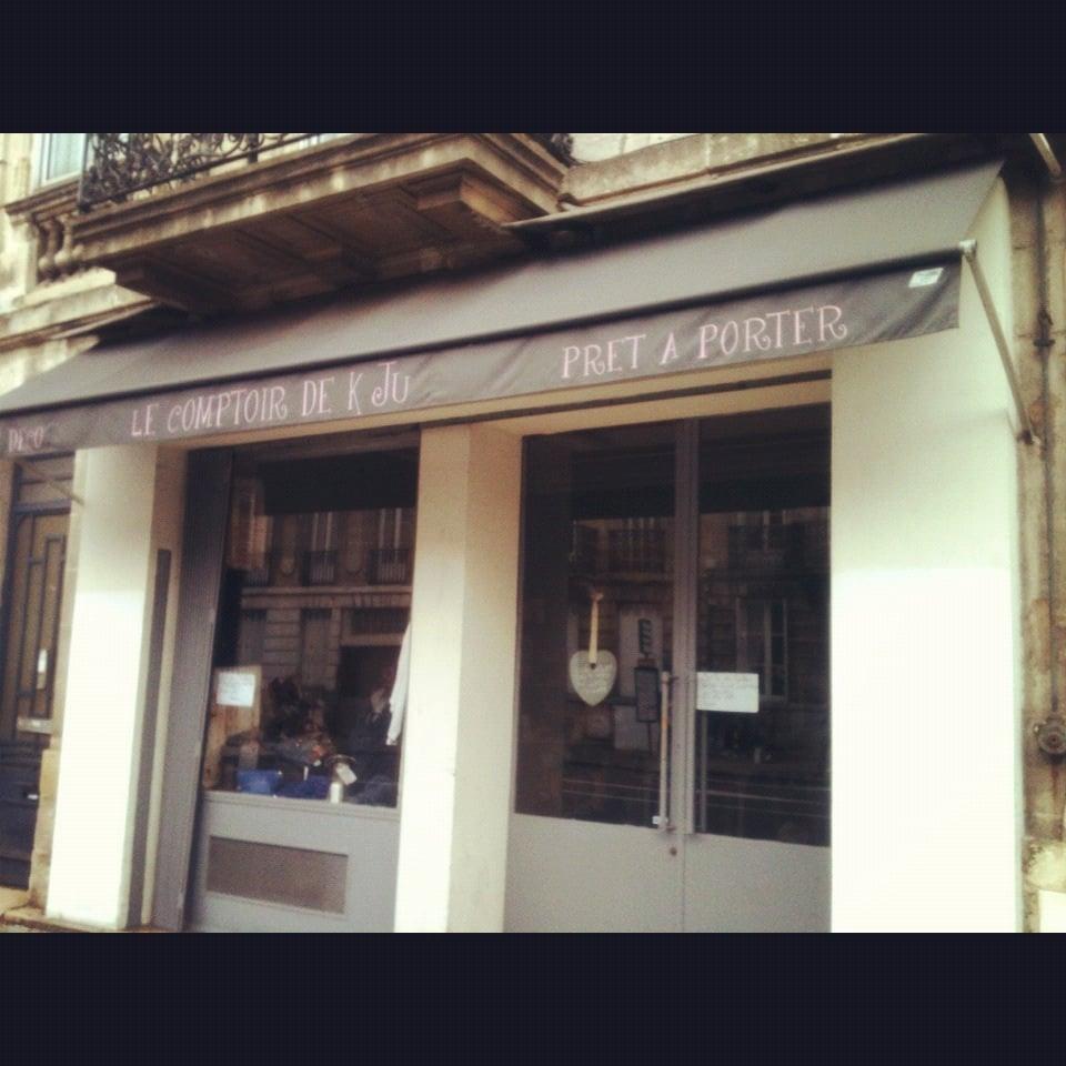 Le comptoir de k ju lukket damet j 7 rue de la croix for Le bureau croix blanche