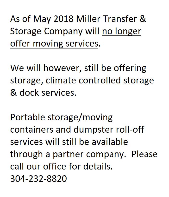Miller Transfer & Storage: 420 Fulton St, Wheeling, WV