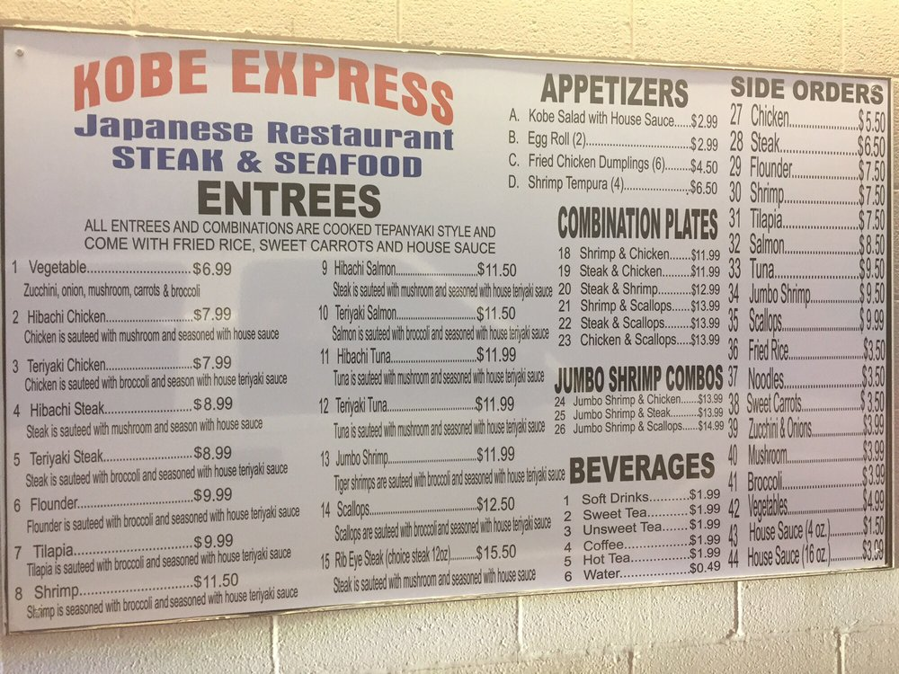Kobe Express: 1428 W University Blvd, Durant, OK