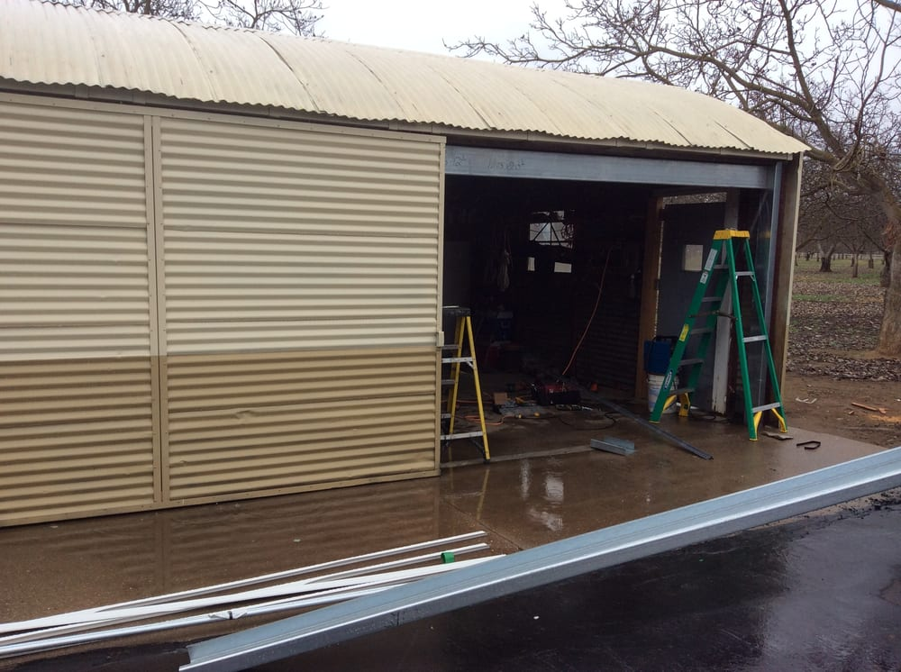 Great After Pic At Lopez Tire Shop In Stockton, CA Where We Had To Frame In Our  Openings For Our Doors Using C Channel U0026 Metal Siding.   Yelp