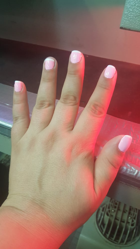 Worst french manicure ever, I have never had such poor work done ...