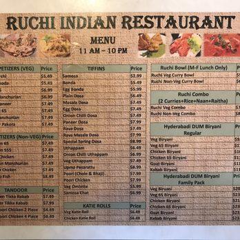 Ruchi Indian Restaurant Bellevue Wa Menu
