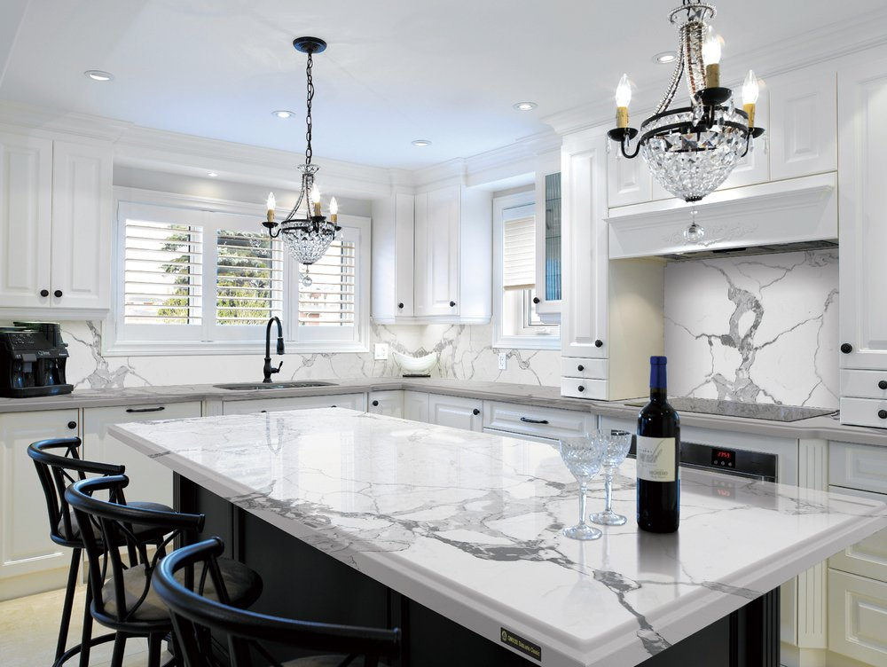 Quartz countertops engineered stone yelp for Engineered quartz countertops