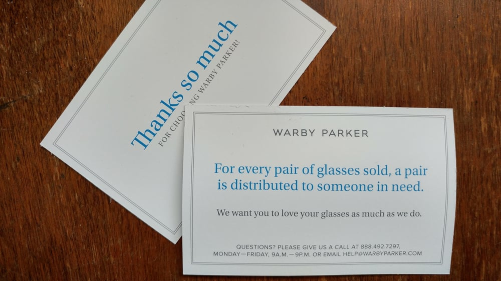 e75452b4b2548 Donating a pair of glasses for every pair purchased. - Yelp