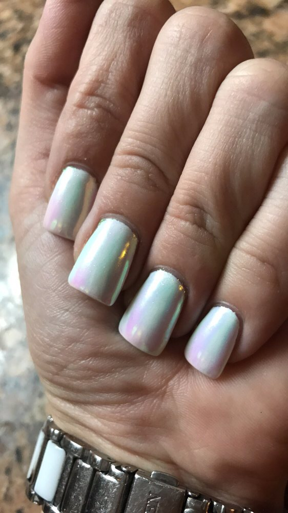 Obsessed with my Unichrome nails done by Jennifer - Yelp