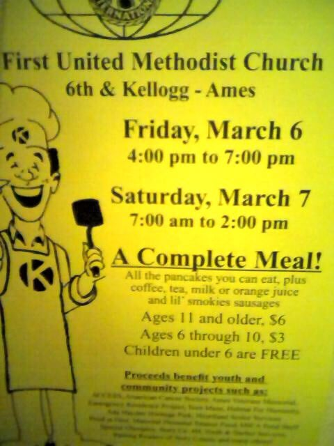 Kiwanis Pancake Day: 516 Kellogg Ave, Ames, IA