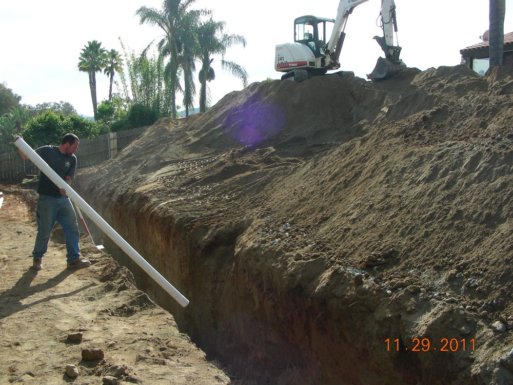 This is a horizontal seepage pit in Escondido  - Yelp