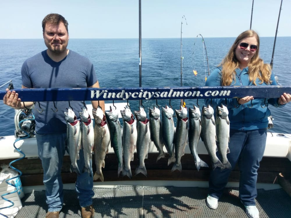 Windy city salmon fishing charters 33 photos 17 for Waukegan fishing charters