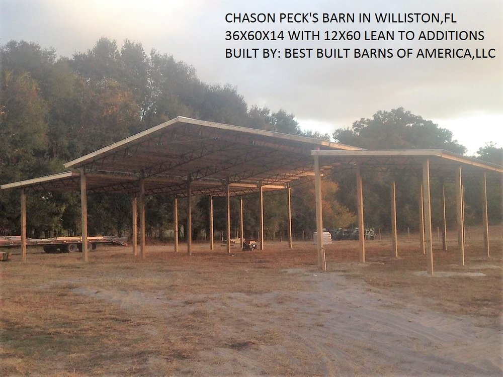 40x60x14 Pole Barn With 8x8x20 Pressure Treated Post