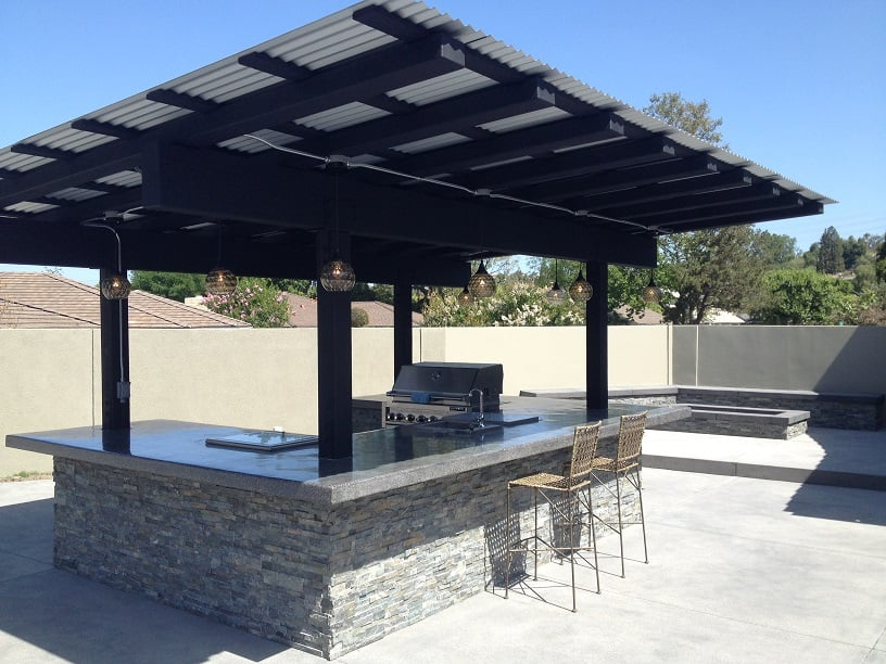 pics for corrugated metal patio roofing