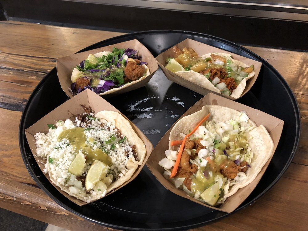 Food from Tin Roof Tacos