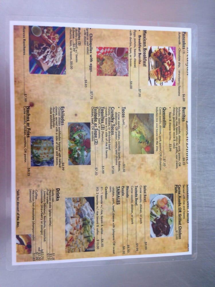 Pancho S Kitchen Las Vegas Menu