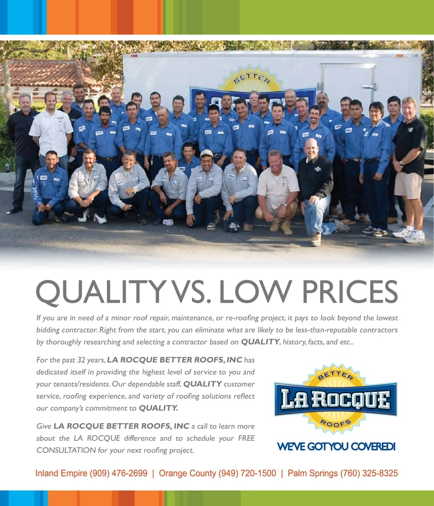 La Rocque Better Roofs Inc Quality Vs Low Prices Yelp