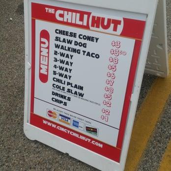Chili Hut Food Truck Menu