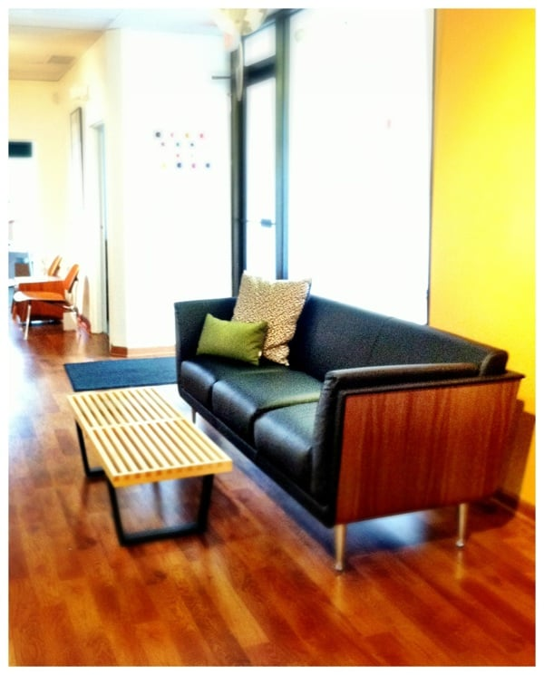 Goetz sofa with nelson bench by herman miller yelp for Office design northbrook il