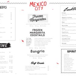 Mexico City Restaurant Elsternwick Menu
