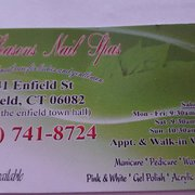Four seasons nail spa nail salons 841 enfield st for A salon enfield ct