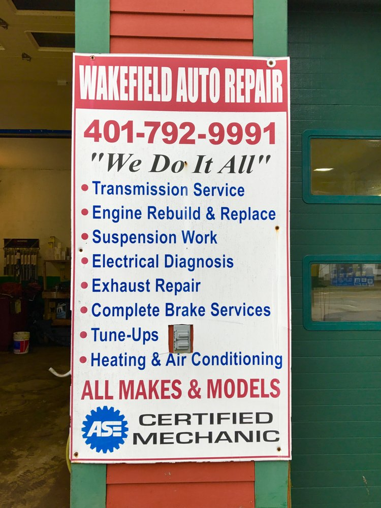 Wakefield Auto Repair: 186 Main St, South Kingstown, RI