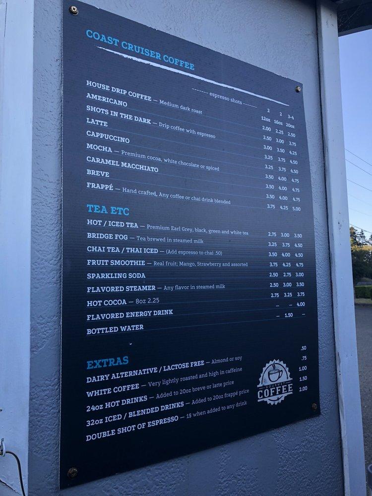 Coast Cruiser Coffee: 66304 US-101, North Bend, OR