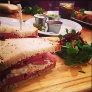 Photo Of Delisserie New York Deli London United Kingdom Piled High Salt Beef