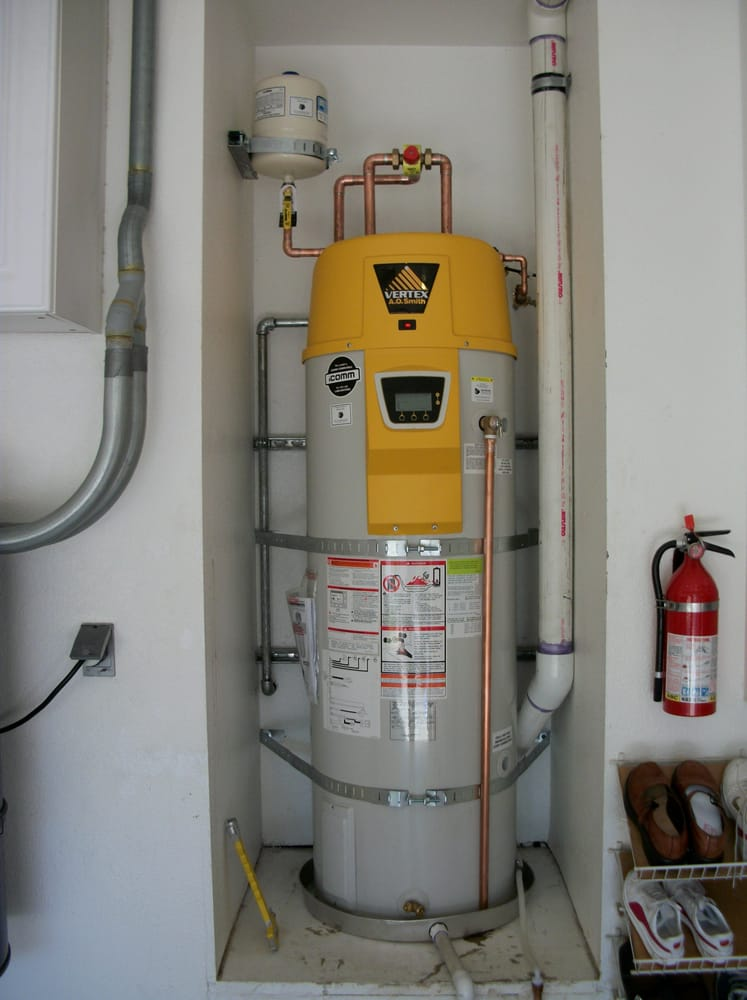 A o smith vertex residential water heater installed in for Pvc for hot water
